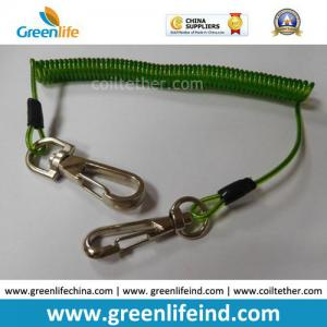 China 16cm Length Top Quality Green Tool Coiled Lanyard Holder on sale