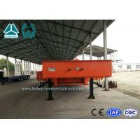 China Basse remorque à plat de grand équipement/tri remorques de commode d'axe avec la longueur de plate-forme de 8000mm on sale
