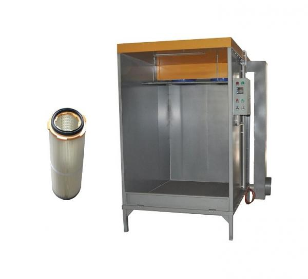Homemade Commercial Powder Coating Spray Booths With Two Filter Cartridges Images