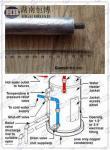 マグネシウムの給湯装置の陽極棒/犠牲的な陽極保護AZ63Cを投げて下さい