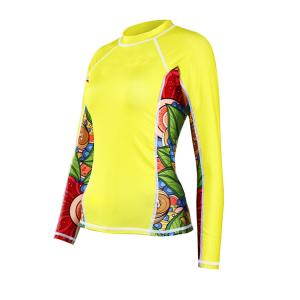 China yellow lycra suit women ultrathin surfing suit swim wear snorkeling diving suit high quality on sale