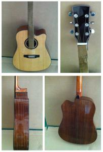 China 41inch OEM  Top level solidwood vintage cutaway acoustic guitar/western guitar steel string sale-TP-AG61 on sale