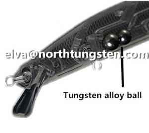 China Tungsten alloy ball sphere bead fishing weight balance adjust weight on sale