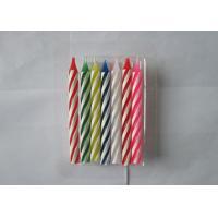 Votive Spiral Stick Unscented Pillar Candles Home Decoration 10 Pcs 7 Colors