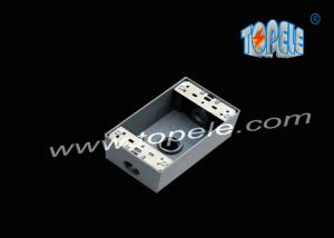 China Die-cast Aluminum Weatherproof Boxes 3 Holes / 5 Holes Single Gang Outlet Boxes Die Cast Metal on sale