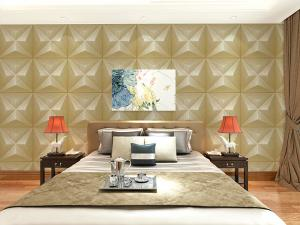 China Embossed Wall Surface 3D Textured Wall Panels Removable Wall Sticker for Living Room on sale