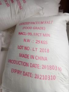 China Iodized Refined Salt , Food Grade Sodium Chloride 99.1% Min 25kg 50kg / Bag on sale