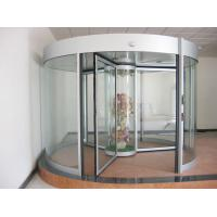 Commercial Three wing automatic revolving door 150KG with central showcase