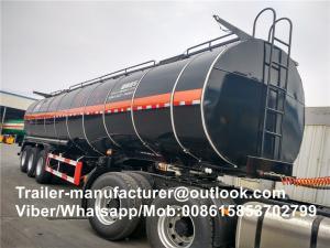 China High Performance 28-65 CBM Fuel Tanker Trailer For Bitumen / Asphalt Storage on sale