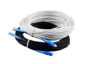 China SM G657A Indoor Outdoor Flat Drop Fiber Cable Patchcord SC UPC APC on sale