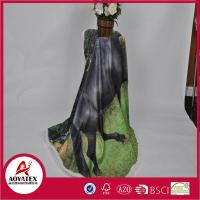 China Warm Soft Animal Printed Mirco Mink Blanket Back Sherpa Fleece Blanket on sale