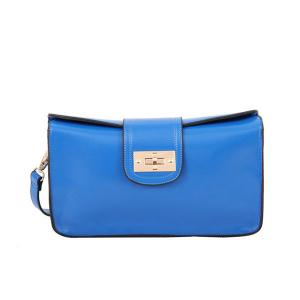 China More Colors Cowhide Leather Wristlet Bag OEM Lady Clutch Bag Real Leather Hand Bag on sale