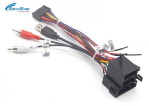 China Car Stereo Radio Automotive Wiring Harness Plug Cable RCA USB2.0 Plug Connector 1 on sale