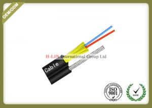 China 2 Core FTTH Fiber Optic Cable Aerial Drop Cable With FRP Strength Member For Outdoor on sale