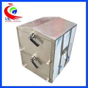2 Doors Steam Cabinet Commercial Chinese Steamer Bun For Staff Canteen