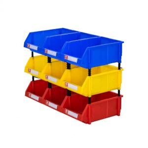 China Warehouse spare parts storage solution plastic stackable bins on sale