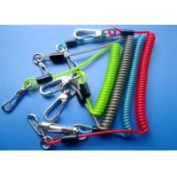 3.0mm / 4.0mm Spring Safety Tool Lanyards With Zin Alloy Swivel Hooks