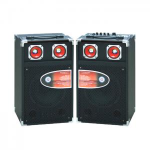 China Single Pro Audio Portable Bluetooth PA Speakers With Led Tweeter / SD Card on sale