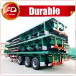 Heavy duty loading capacity brand new tri axles flatbed timber trailer