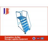 Movable Metal Truck Bed Step Ladder Folding with Four Wheels