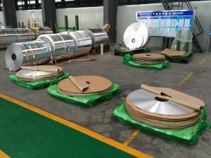 China Tiras da folha de alumínio de transferência térmica/folha de alumínio industrial para os tubos Finned on sale