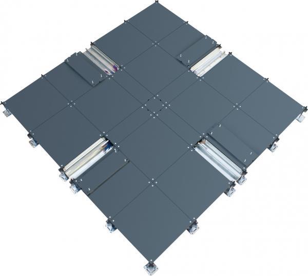 500mm Fireproof Steel Raised Floor Raised Access Flooring Systems