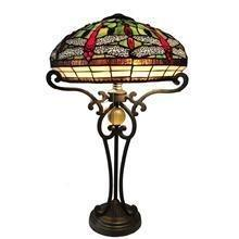 China TL160004-Stained Glass Lamp shade Tiffany Style Baroque Table Lamp on sale
