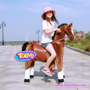 China Tobys plush  riding horse pony cycle  for  baby on sale