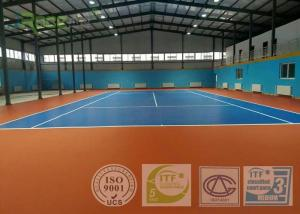 China Professional Outdoor Acrylic Tennis Court Surface 2-7 Mm Thickness Customized on sale