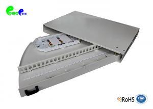 China 1U 24 Ports Optical Fiber Distribution Frame Rack Mounted Side Pull Grey Color on sale