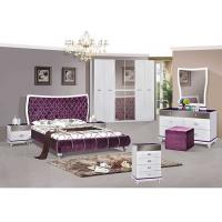 Middle East Style 6 Door Wardrobe / King Size Bedroom Sets Lacquer Painting