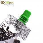 Printed Aluminium Foil Plastic Liquid Packaging Bags , Bottom Gusset Spout Pouch Packaging