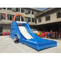 Duable Rainbow Inflatable Water Slide For Children , Giant Inflatable Playground