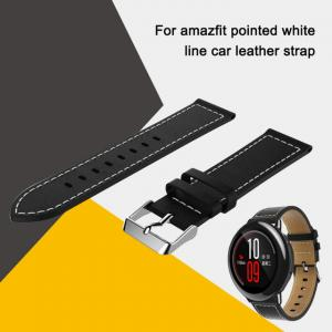 China HuaMi Amazfit Pacereplacement leather watch bracelet strap for Xiaomi Huami Amazfit bip pace lite 22mm smart wrist band on sale