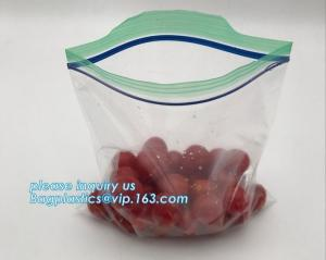 China custom products food grade clear matte stand up Ziplockk storage bags food safe plastic storage bags, grip seal bags, grip on sale