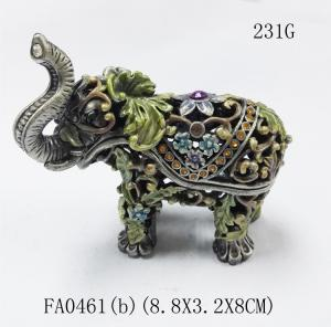China Funky elephant group set decorative indian metal jewellery boxes on sale
