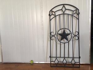 China Puertas decorativas del hierro y del vidrio para las puertas de entrada 15.5*39.37/tamaño de encargo on sale