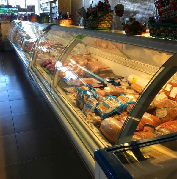Commercial Serve Over Counter Deli Freezer Cold Food Fresh Meat Display Refrigerator Showcase Images