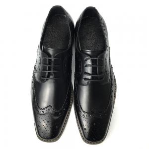 China Mens Casual Leather Shoes / Mens Black Oxford Shoes Fashion Italian Style on sale