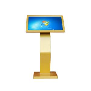 China Customized 21.5 Inch All In One PC Touch Screen Gold Shell Wide Lcd Ad Player on sale