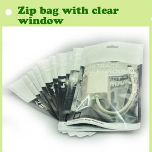 China Plastic bag with clear window storage bag,custom order plastic with zipper top on sale