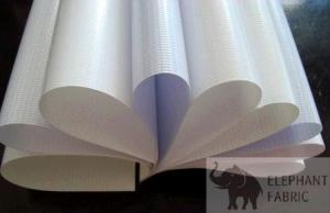 Quality A35 White 0.35mm Pp Woven Fabric Roll Advertising Banner Material For Outdoor for sale