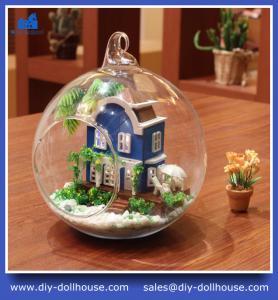 China DIY Glass Ball Doll House Model Building Kits Wooden Mini Handmade Miniature MG001 on sale