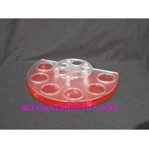 China Acrylic countertop cosmetic display stand, plexiglass body lotion holder on sale