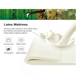 China Manufacture of Natural Latex 7-zone Massage Mattress, Bed Topper on sale