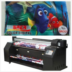 China 5.5KW Digital Fabric Printing Machine For Fabric Sublimation Outdoor Banner Printing on sale