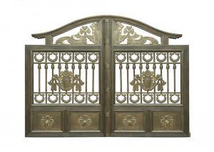 China Architectural Wrought Iron Cast Iron Garden Gate European Style on sale