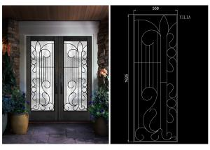 China Professional Wrought Iron Glass Inlaid Door Glass For Building Sound Insulation on sale