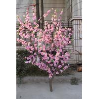 China high quality silk artificial pink peach blossom tree landscape fake tree for wedding indoor or outdoor decoration on sale