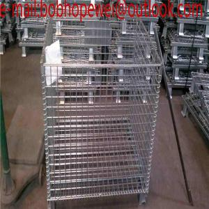 warehouse heavy load steel folding container cagefolded roll